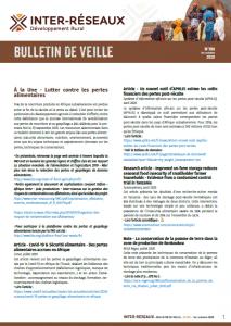 Bulletin de veille n°391