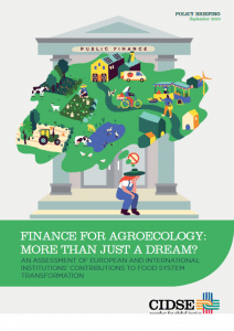 Policy brief - Finance for agroecology: more than just a dream? An assessment of European and international institutions contributions to food system transformation