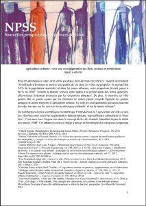 Appel à article - Agriculture urbaine : vers une reconfiguration des liens sociaux et territoriaux