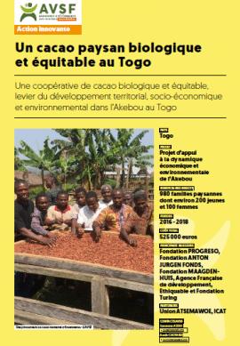 Note : Un cacao paysan biologique et équitable au Togo