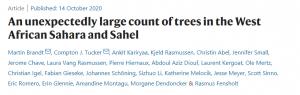 Recherche - Un nombre étonnamment élevé d'arbres dans le Sahara et le Sahel d'Afrique de l'Ouest