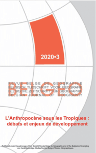 Parution - L'Anthropocène sous les Tropiques: débats et enjeux de développement