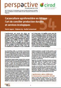 Policy brief - Cacaoculture agroforestière en Afrique : l'art de concilier production durable et services écologiques