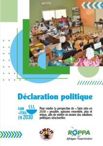 Déclaration politique du ROPPA et du CNCR lors de la journée mondiale de l'alimentation