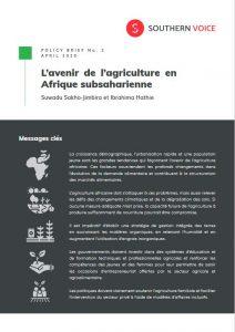 Synthèse - L'avenir de l'agriculture en Afrique subsaharienne