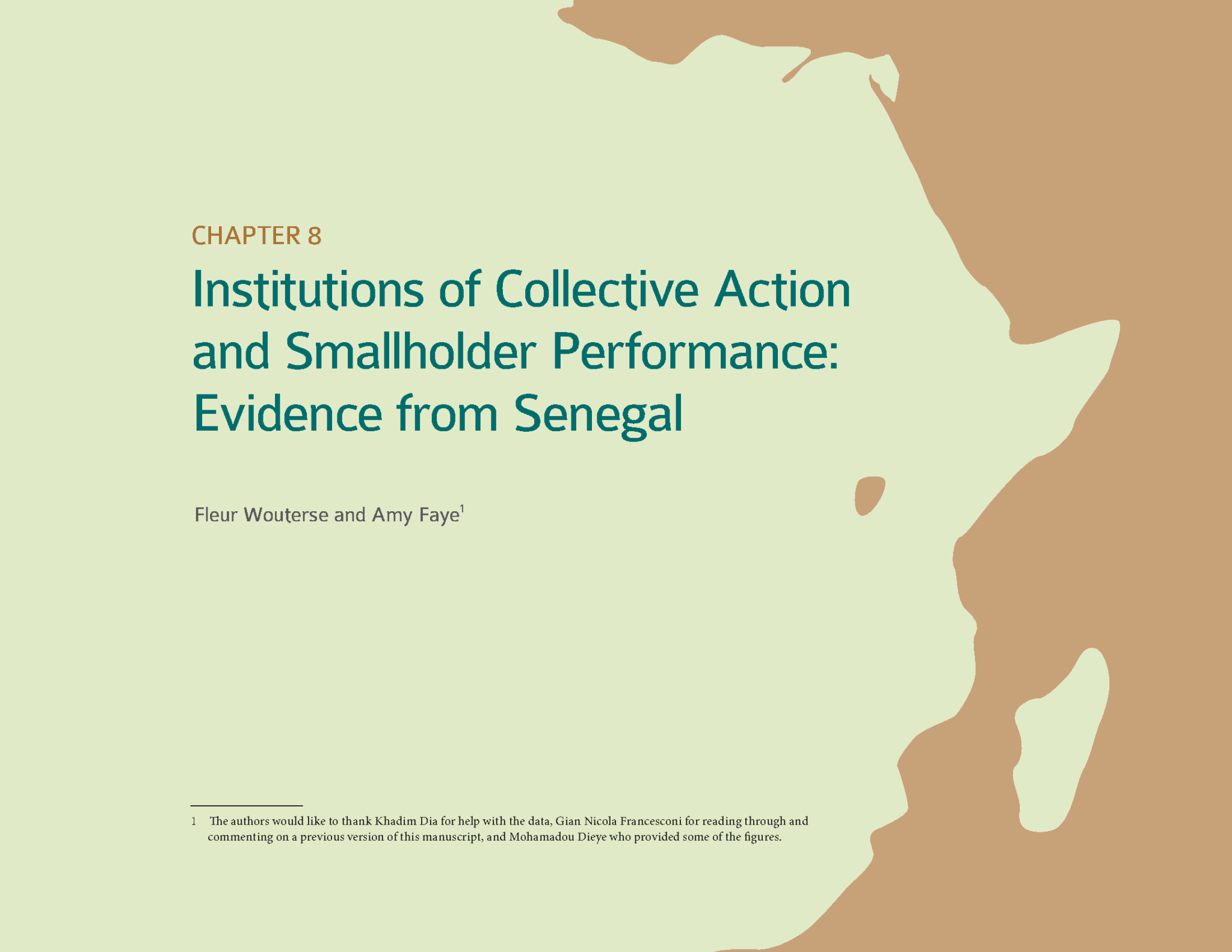 Chapter - Institutions of Collective Action and Smallholder Performance: Evidence from Senegal