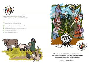 Livret d'illustration : Déclaration des Nations Unies sur les Droits des paysan·ne·s et Autres Personnes Travaillant dans les Zones Rurales