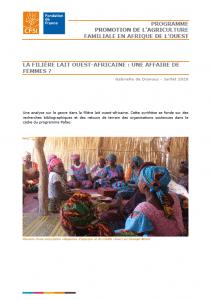 Note : La filière lait ouest-africaine : une affaire de femmes ?