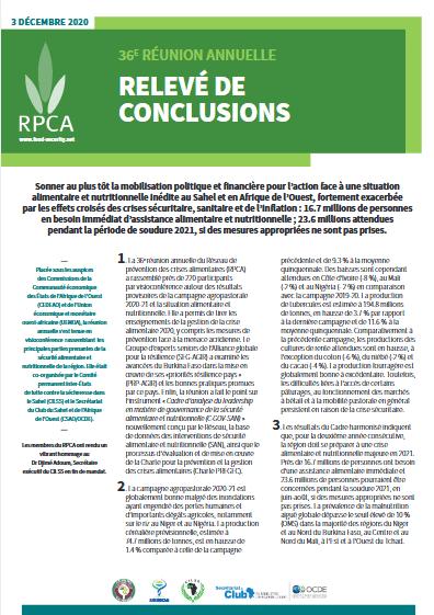 Synthèse - RPCA - Relevé de conclusion 36ème réunion annuelle