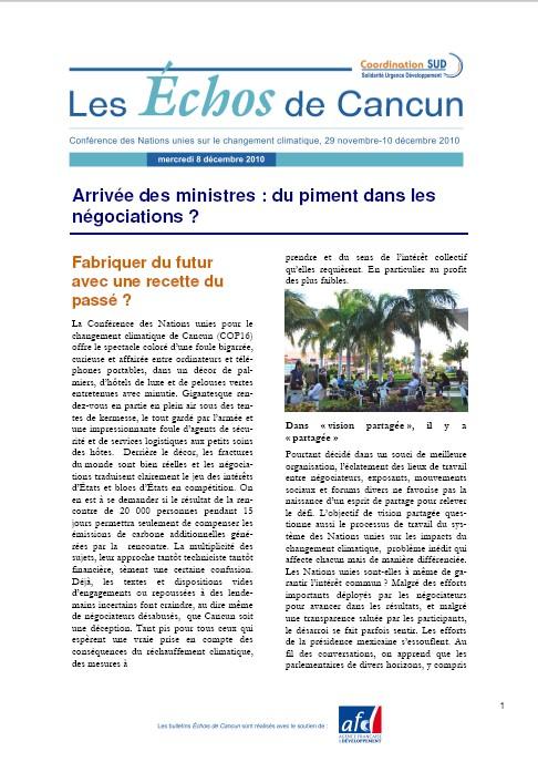 Les echos de Cancun bulletins 3 et 4