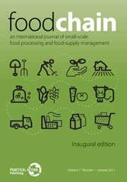 Food Chain : An international journal of small-scale food processing and food supply management
