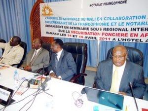 """Le président de L'Assemblée nationale à propos du foncier """"La sécurisation foncière sécurise nos Etats"""""""