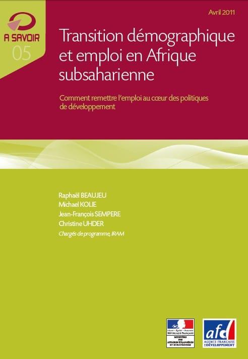 Transition démographique et emploi en Afrique subsaharienne