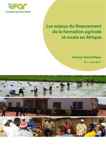 Les enjeux du financement de la formation agricole et rurale en Afrique