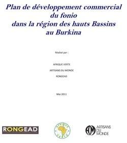 Plan de développement commercial du Fonio dans la région des Hauts Bassins au Burkina
