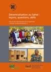 Décentralisation au Sahel : leçons, questions, défis