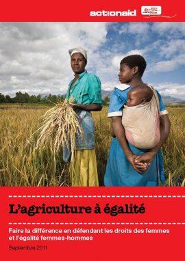 """""""L'agriculture à égalité"""" : un rapport sur la place des femmes"""