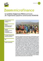 Le système d'appui aux filières porteuses de l'organisation paysanne camerounaise NOWEFOR