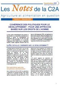 Soja: l'impact des importations européennes sur le développement au Sud (Note C2A)