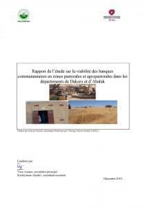 Rapport de l'étude sur la viabilité des banques communautaires en zones pastorales et agropastorales dans les départements de Dakoro et d'Abalak