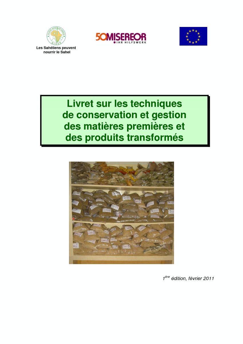Techniques de conservation et gestion des matières premières et des produits transformés