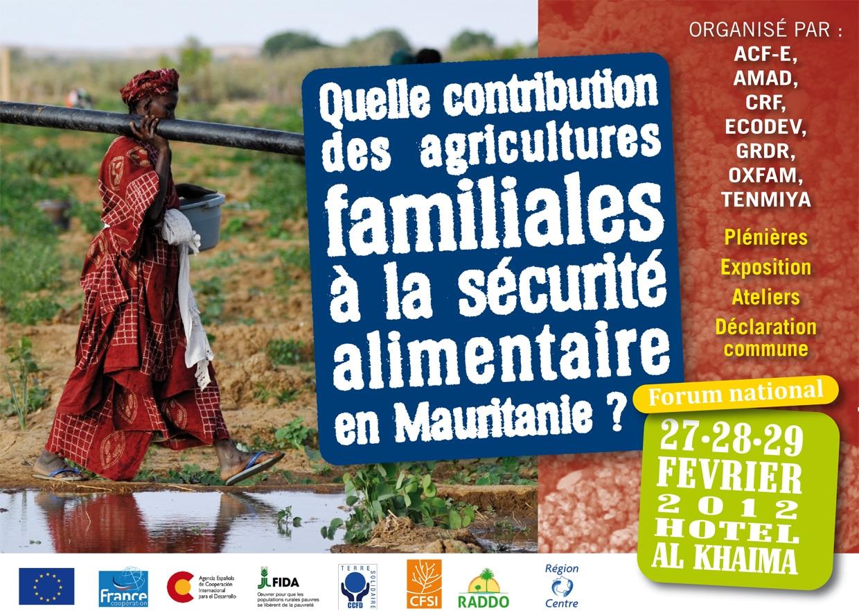 Agriculture familiale et sécurité alimentaire en Mauritanie : de nombreux défis à relever