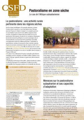 Une fiche de 2 pages sur le pastoralisme en zone sèche