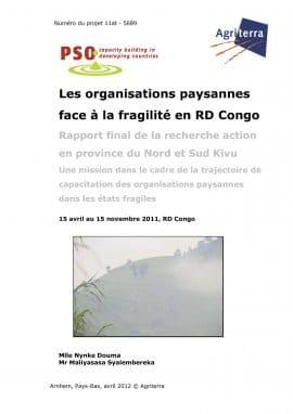 Les organisations paysannes face à la fragilité en RD Congo