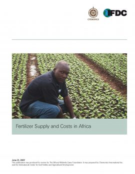 Fertilizer Supply and Costs in Africa