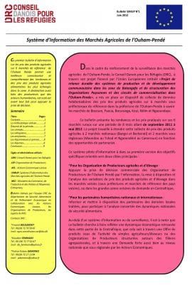 Bulletin du système d'information des marchés agricoles de l'Ouham-Pendé (Centrafrique)