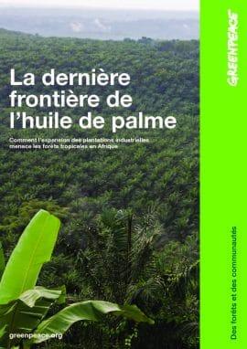 Rapport de GreenPeace : La dernière frontière de l'huile de palme