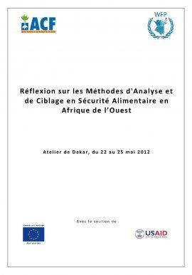 Fiche de lecture : Réflexion sur les Méthodes d'Analyse et de Ciblage en Sécurité Alimentaire en Afrique de l'Ouest