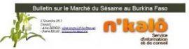Note du RECA Niger : Le système d'information sur la filière sésame du Burkina Faso