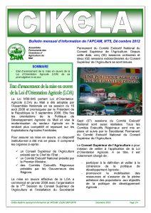Cikela n°75 : Etat d'avancement de la mise en œuvre de la Loi d'Orientation Agricole (LOA) au Mali