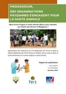 Capitalisation des expériences de FFTS et Fifatam dans la mise en place et le fonctionnement d'un service d'appui en santé animale (Décembre 2012)