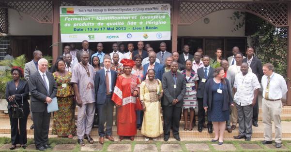 Identification et inventaire de produits de qualité liée à l'origine. Lancement d'un programme de renforcement des capacités pour les pays d'Afrique de l'Ouest et du Centre