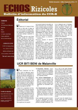 Echos rizicoles n°8 (septembre 2012)