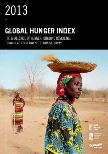 ACTED :  Indice de la faim dans le monde 2013