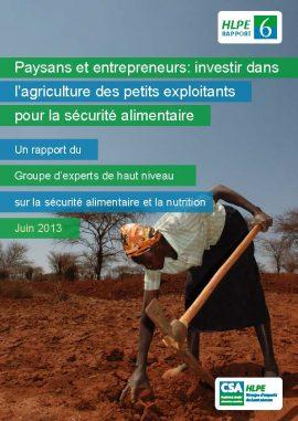Rapport HLPE (CSA) : Paysans et entrepreneurs: investir dans l'agriculture des petits exploitants pour la sécurité alimentaire
