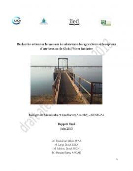Trois études sur les sites de barrage de Bagré au Burkina