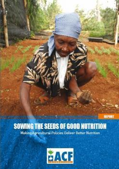 """Rapport ACF : """"Semer les graines d'une bonne nutrition"""""""