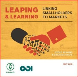 Rapport : Leaping and Learning: Linking Smallholders to Markets