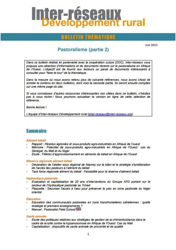 Bulletin de veille n°227 - Spécial Formation des responsables paysans (suite)