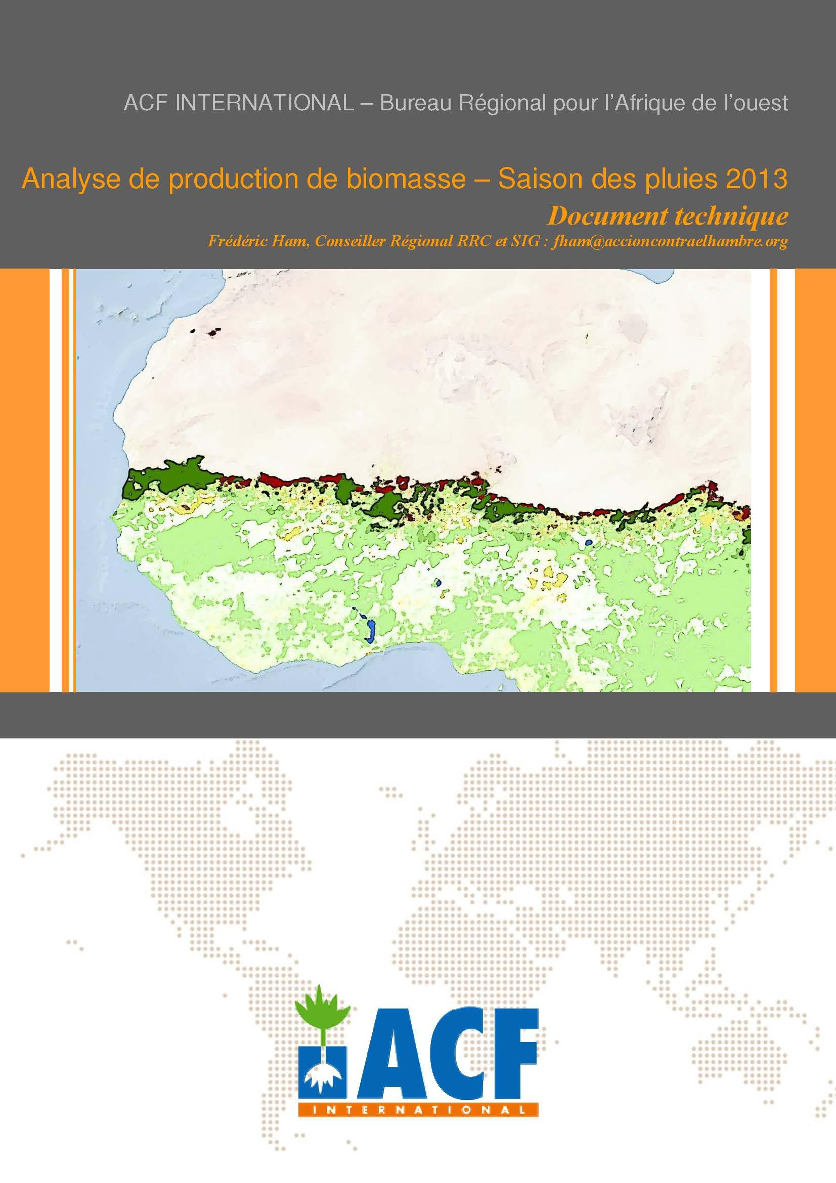ACF : document d'analyse 2013-2014 de la situation pastorale au Sahel