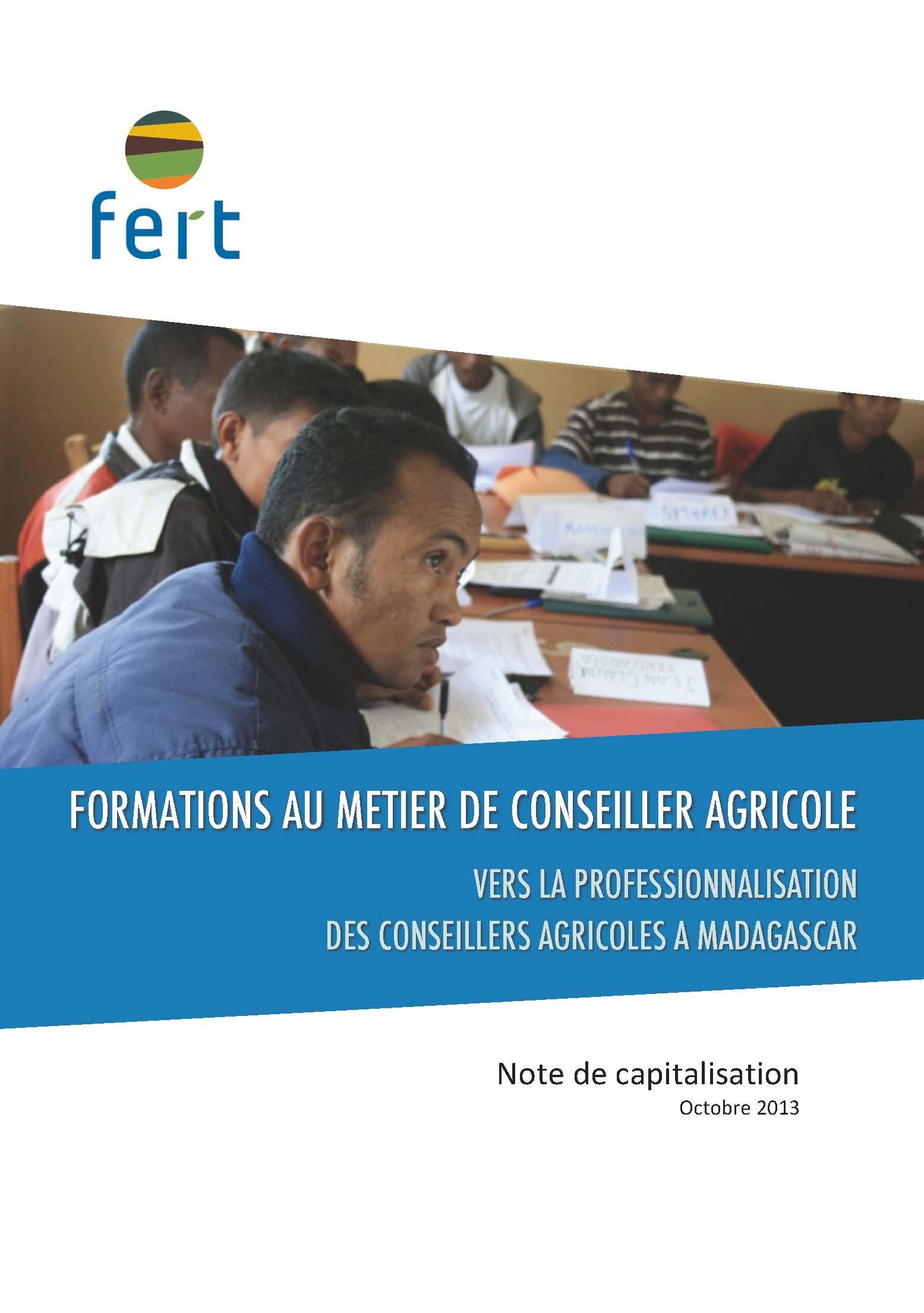 Formations au métier de conseiller agricole vers la professionalisation des conseillers agricoles à Madagascar
