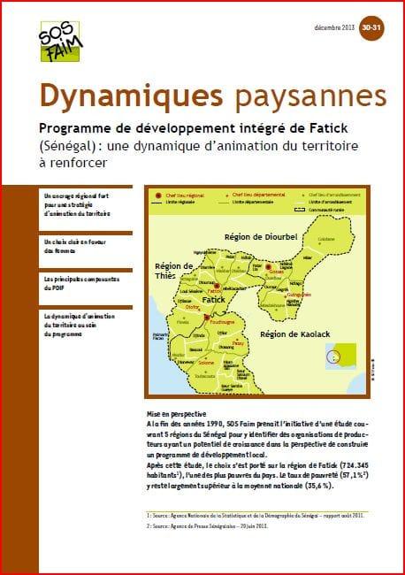 SOS Faim - Dynamiques paysannes n°30 : Programme de développement intégré de Fatick (Sénégal)