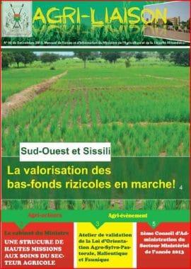 Agri-liaison : mensuel du ministère de l'Agriculture et de la Sécurité alimentaire du Burkina Faso