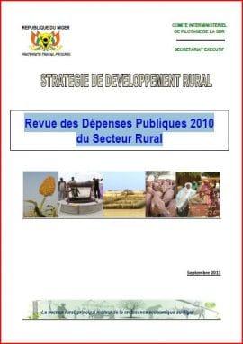 Niger : Revue des dépenses publiques 2010 du secteur rural