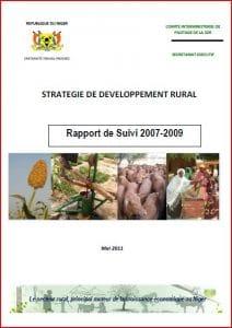 Stratégie de développement rural du Niger : rapport de suivi 2007-2009