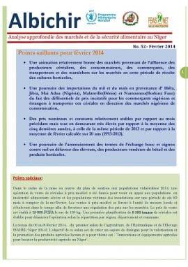 Alchibir n°52 : Analyse approfondie des marchés et de la sécurité alimentaire au Niger